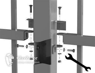 Рама из трубы сечением — 40×40×1,4 мм.